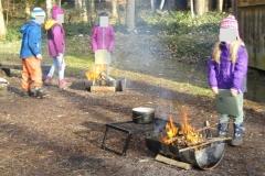Winter im Wald - Schulklasse